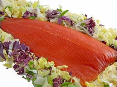 Filetto di trota salmonata affumicato a freddo